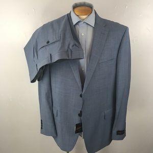 Laurentino mens suit 48r light blue italy ea0255